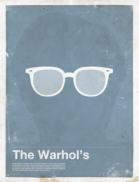 Miss Spectacles: Framework. Eyewear Made Famous  The Warhol's  Andy Warhol