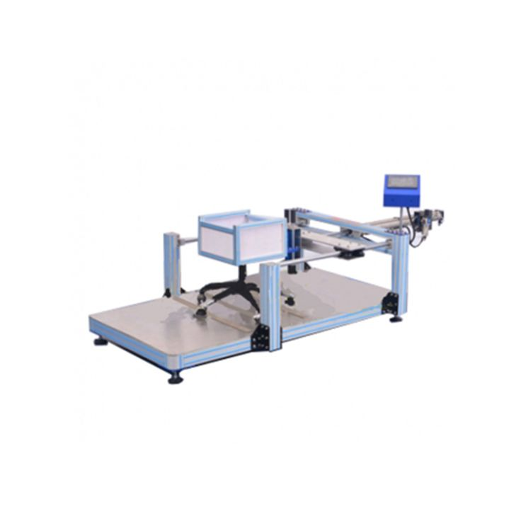 #rotarychairtest  Rolling Resistance Testing Machine applies to all chairs with casters, to evaluate rolling resistance of the unloaded chair.