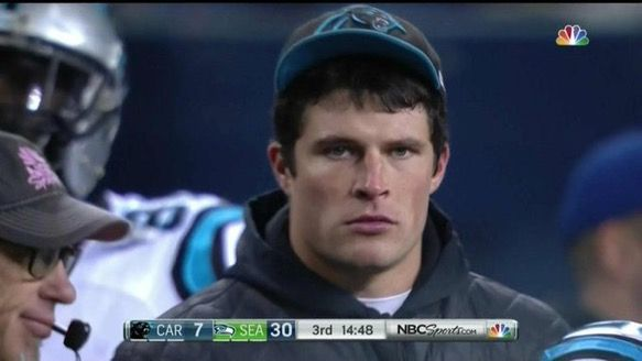 find someone who looks at you the exact opposite of the way luke kuechly is looking at the panthers defense right now