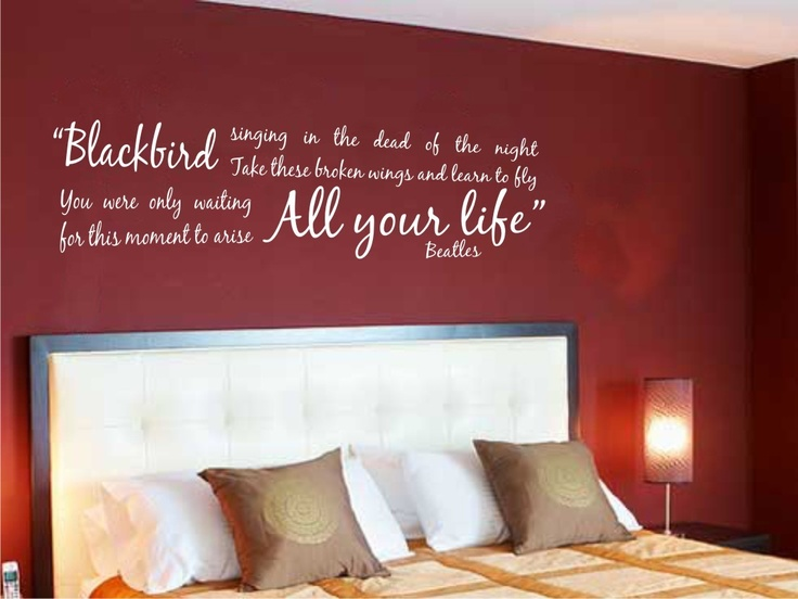 Bedroom Decorating Ideas with Attractive Wall Decal. The 25  best Blackbird lyrics ideas on Pinterest   Blackbird