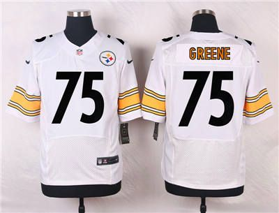 688c270206e ... Stitched NFL Nike Nike Pittsburgh Steelers 75 Joe Greene White Jersey