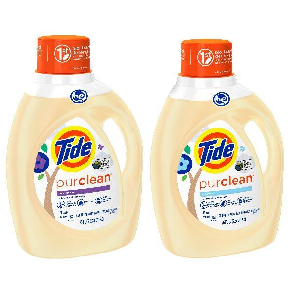En Target puedes conseguir el detergente liquido Tide Purclean de 75 oz a $9.99 en especial. Utiliza (1) cupón manufacturero de Cartwheel ...