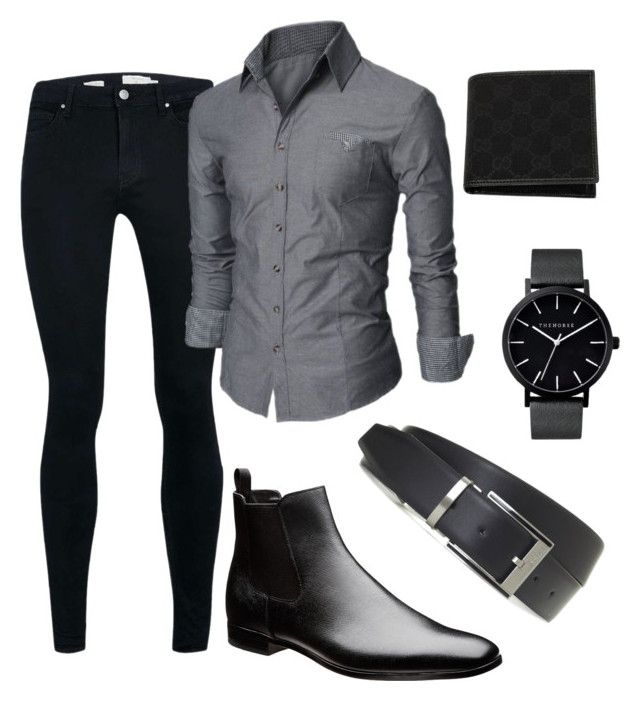 Mens: Semi Formal Black/Grey Set by the-urban-elephant on Polyvore featuring The Horse, Topman and Gucci