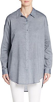 Cotton Chambray Shirt - Shop for women's Shirt - CHAMBRAY Shirt