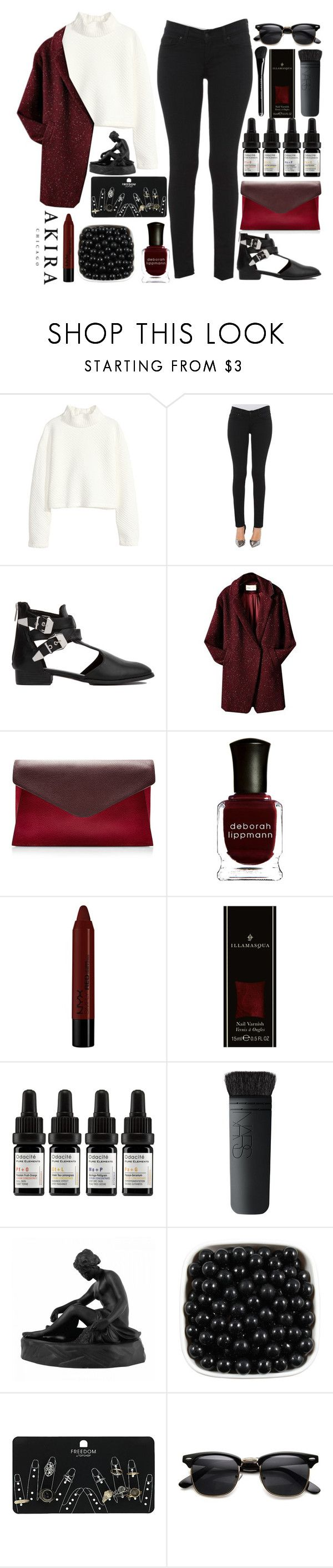 """#Stevie Wonder - Uptight!"" by credentovideos ❤ liked on Polyvore featuring H&M, Akira, Valentino, Deborah Lippmann, NYX, Marc Jacobs, Odacité, NARS Cosmetics, Wedgwood and Topshop"