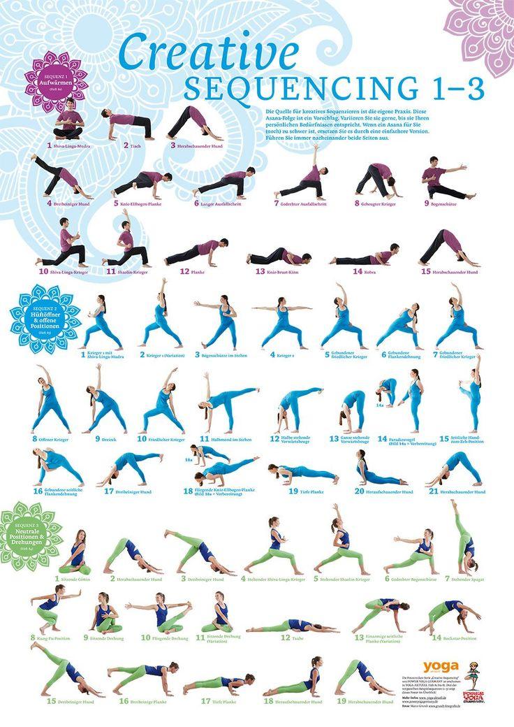 Creative Sequencing 1-3 Poster von Yoga Aktuell von YOGISTAR.COM   Yoga-Zubehör, Yogamatten und Yoga