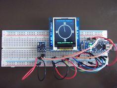 Digitaler Kompass: HMC5883L (GY-271), TFT (HY-1.8) und ein Arduino