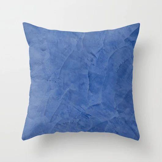 Tuscan Blue Plaster Throw Pillow - Mediterranean Throw Pillows - Decorative Pillows - Contemporary Throw Pillows - Join me on Houzz!