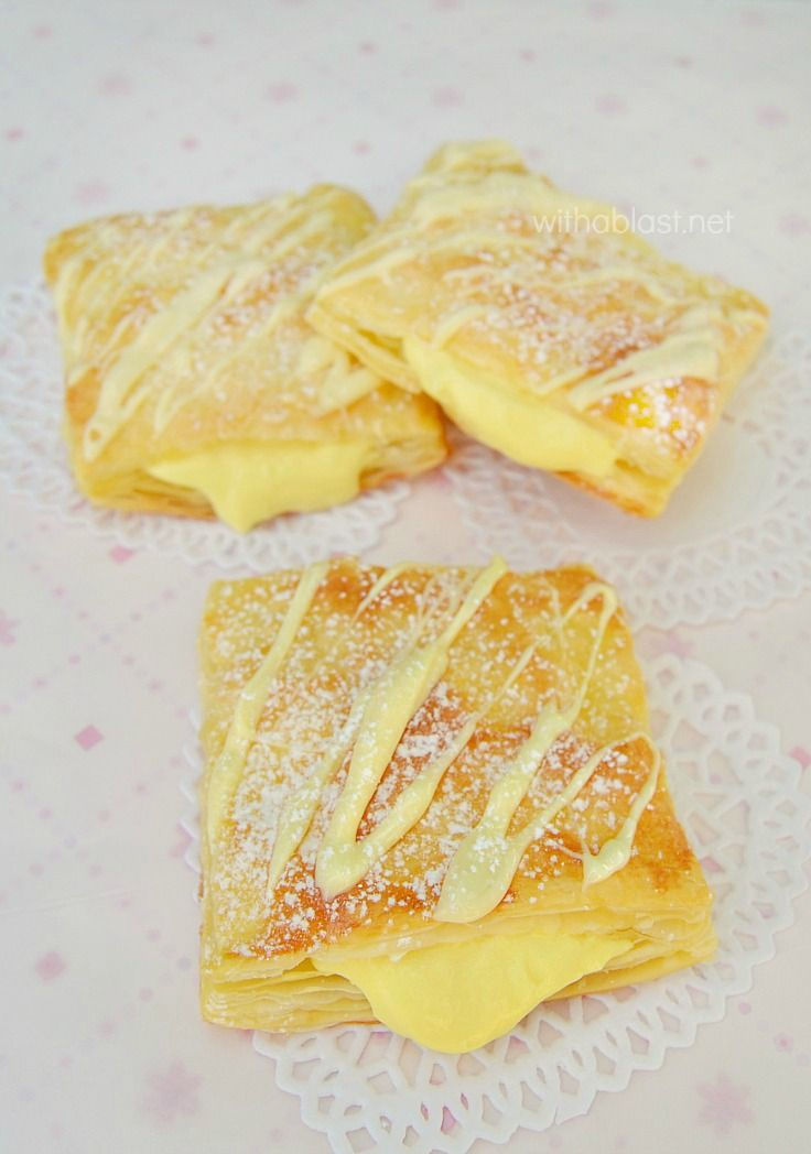 Lemon Cream Puffs ~ Light & flaky Puffs filled with a divine Lemon Cream, which can be as zesty as you prefer ~ another Quick, easy but scrumptious dessert Pastry !