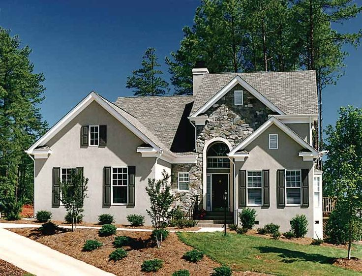 New american house plan with 2412 square feet and 3 for New source homes