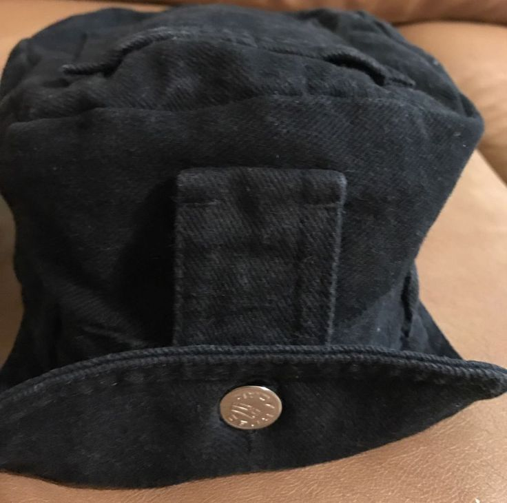 ROBO CAP Les Industries Lrg Black Denim W Manual Motorcycle Cap  eBay  Ebay  Black denim