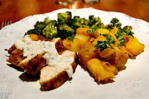 Tandoori-Style Grilled Chicken Breast with Yogurt Sauce | Healthy ...