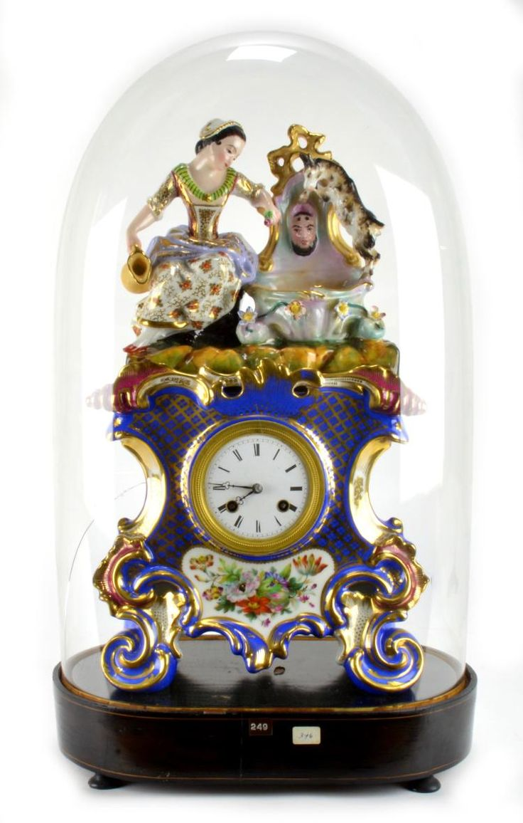 Old Paris French Porcelain Figural Clock