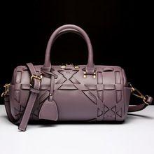 fashion women bag women messenger genuine leather handbag barrel bags