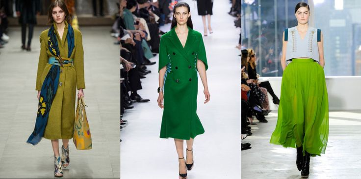 The Colors of FW14 – 10 Ways to Kick Out Black, Grey and Beige #green #thedailydagny