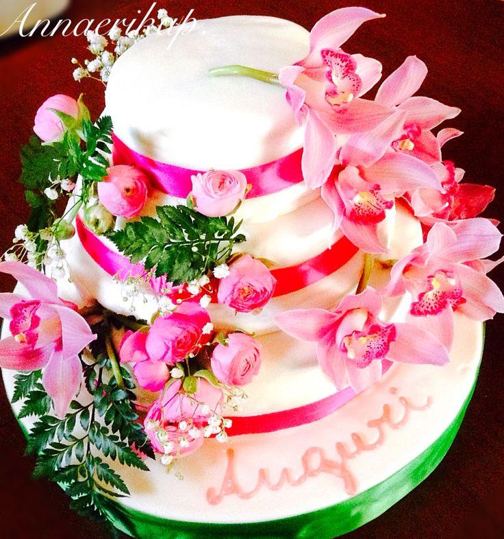 Birthday cake, flower cake