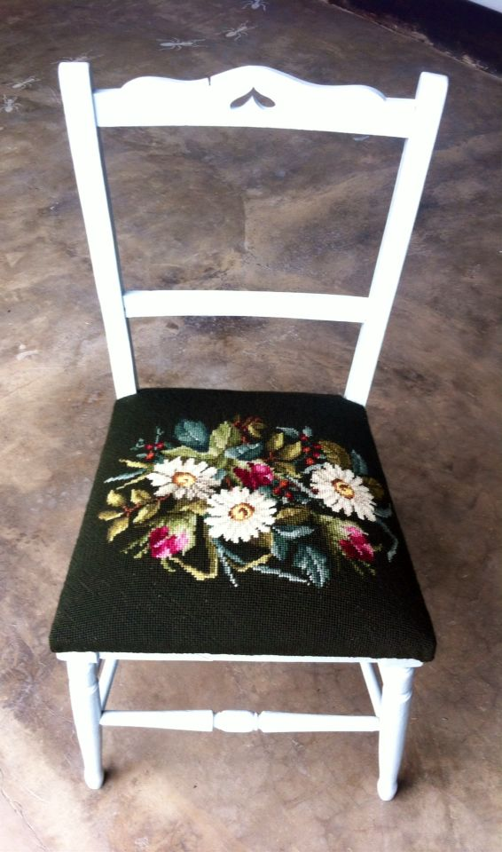 Up cycled tapestry and character chair by mimi