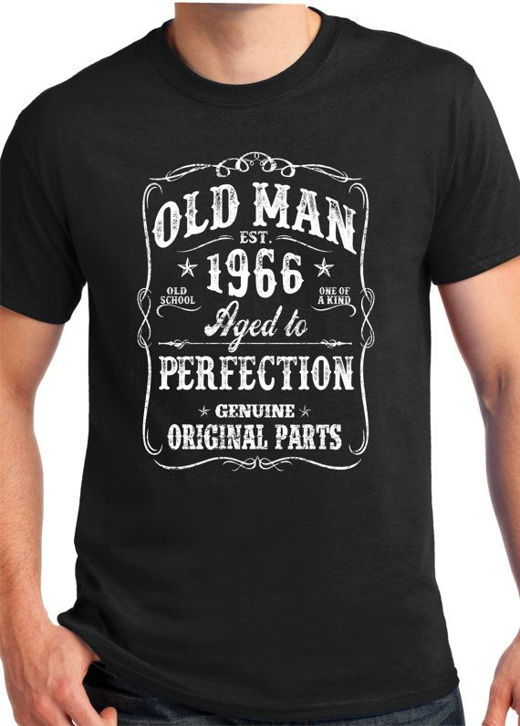 1966 Gift old man BORN IN 1966 funny shirt 1966 Shirt S by BluYeti