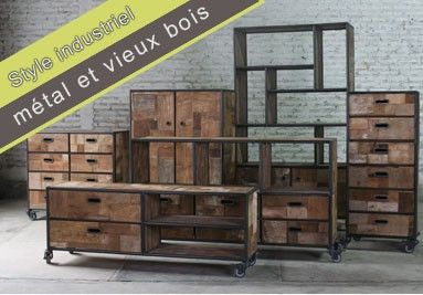 25 best ideas about meuble style industriel on pinterest for Fournisseur de meuble