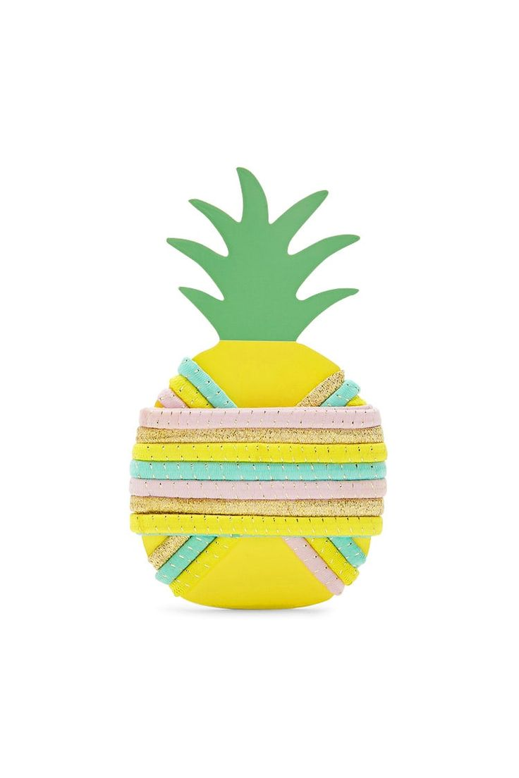 Pineapple Hair Tie Set - Accessories for Women | Sunglasses, Backpacks & Wallets | Forever 21 - 1000103702 - Forever 21 EU English