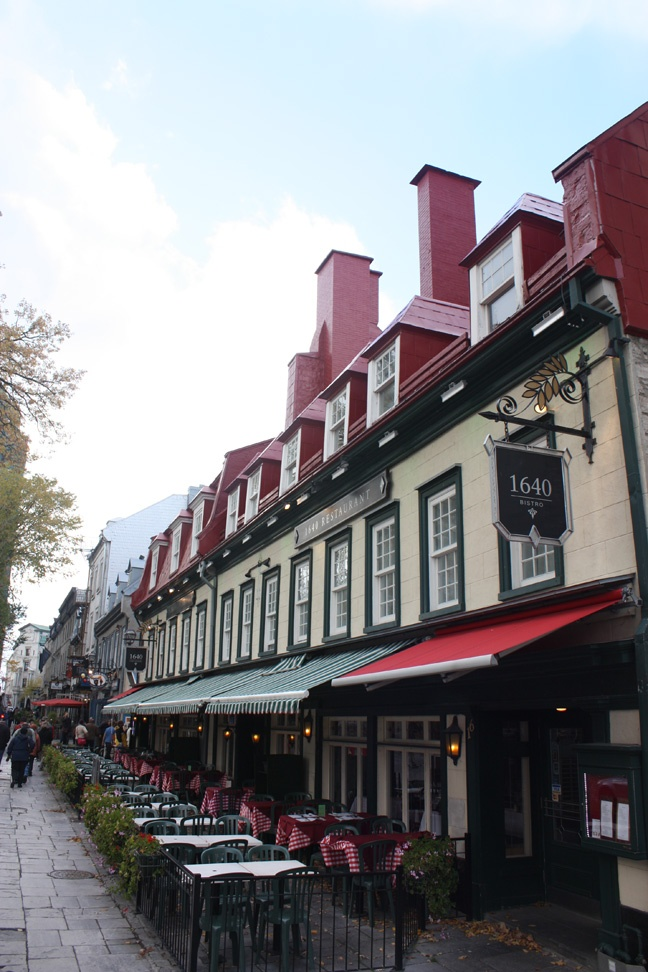 Quebec . . . This is one of my favourite restaurants in the city: 1640. It serves traditional French food as well as traditional Quebecois dishes.