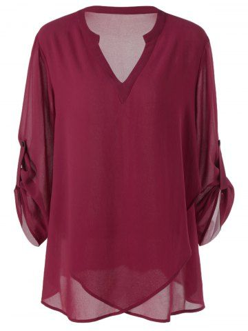 GET $50 NOW   Join RoseGal: Get YOUR $50 NOW!http://m.rosegal.com/plus-size-blouses/plus-size-split-neck-adjustable-sleeve-1071943.html?seid=890goe8md1g5c9nckjeg9i4uc0rg1071943