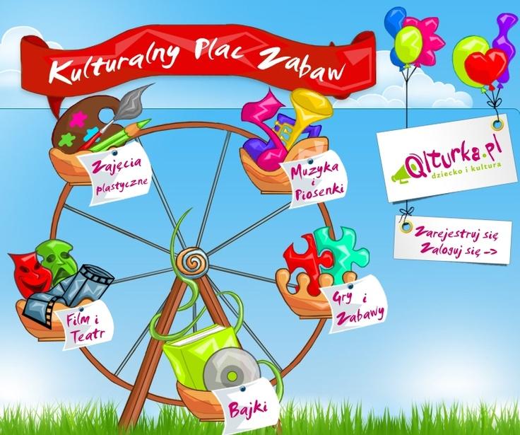 Kulturalny plac zabaw – gry i zabawy, książki, film i teatr, muzyka i piosenki, kolorowanki.