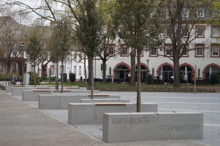 Place in front of Memorial St. Christoph. ©Landeshauptstadt Mainz