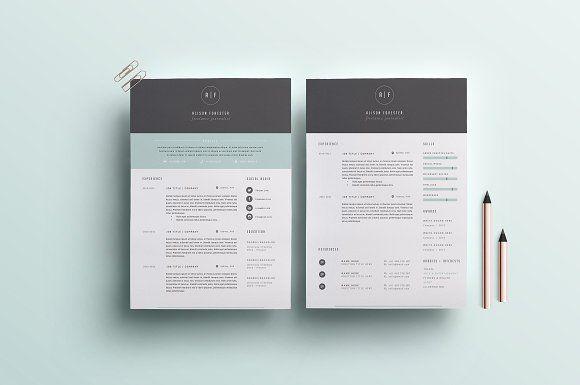 Resume Template 3 Page Cv Template Cv Template Resume Template Creative Resume Templates