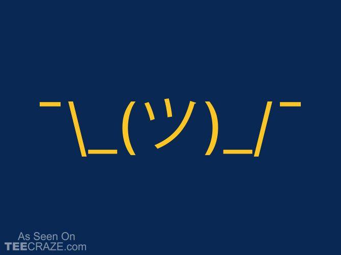 Shrug-Emoji T-Shirt - http://teecraze.com/shrug-emoji-t-shirt/ -  Designed by Snorg Tees    #tshirt #tee #art #fashion #TCRZ #clothing #apparel