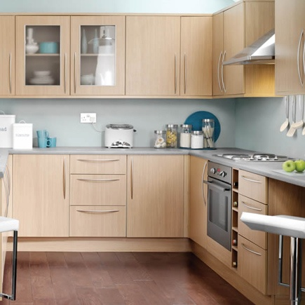 Kitchen wickes galway oak effect wood for Kitchen cabinet price comparison