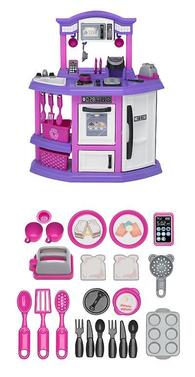 Kitchens 158746 American Plastic Toys 22 Piece Baker S Kitchen Set It Now Only 52 99 On Ebay
