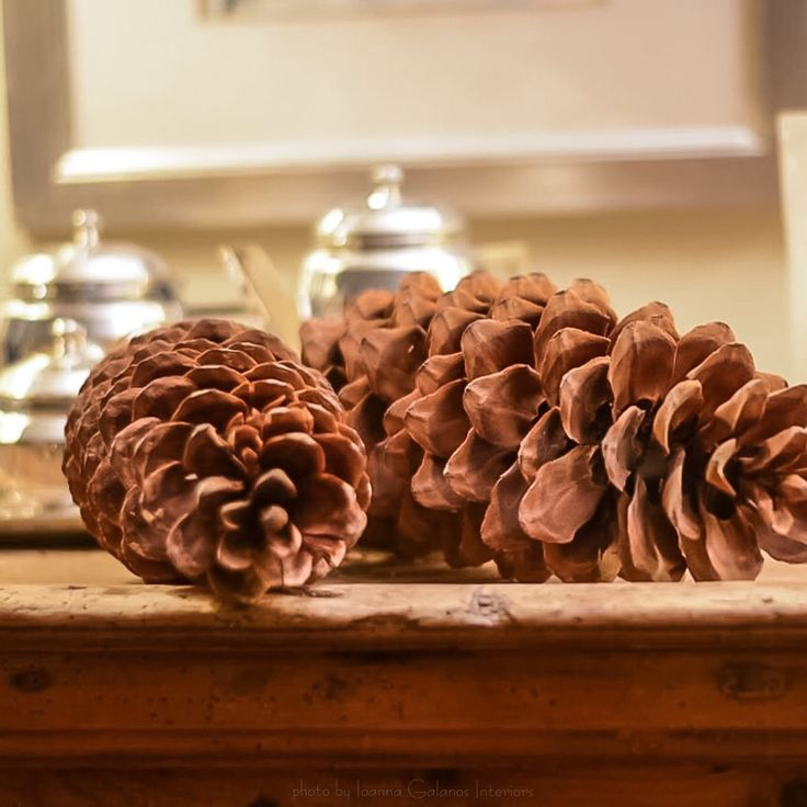 ✔️ Fir Cones make great winter styling.... Styling & Photography by Ioanna Galanos Interiors