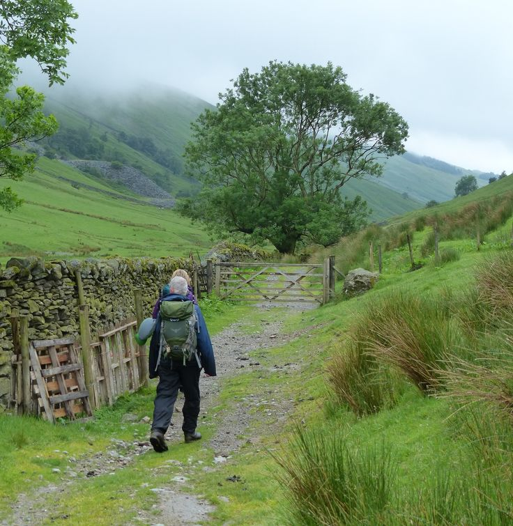 Walking through Troutbeck valley, Lake District