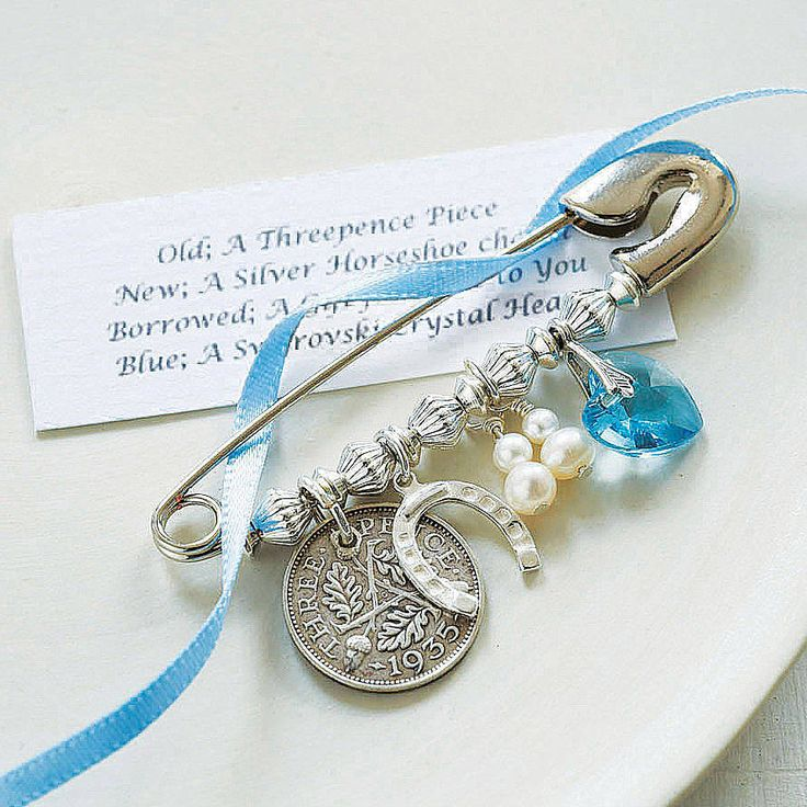 bridal charm pin by betty's glamour box | notonthehighstreet.com