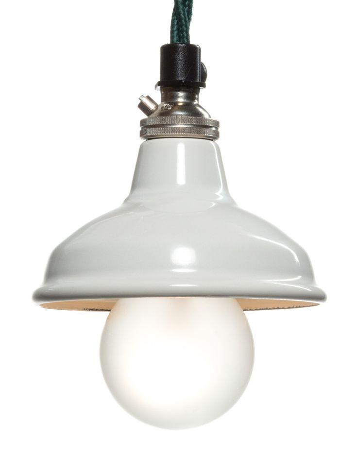 Miniature Lamp Shades 80mm White Enamel