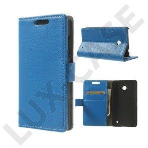Wall Street (Sininen) Nokia Lumia 630/635 Nahkakotelo