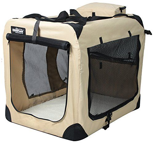 cool EliteField 3-Door Folding Soft Dog Crate, Indoor & Outdoor Pet Home, Multiple Sizes and Colors Available