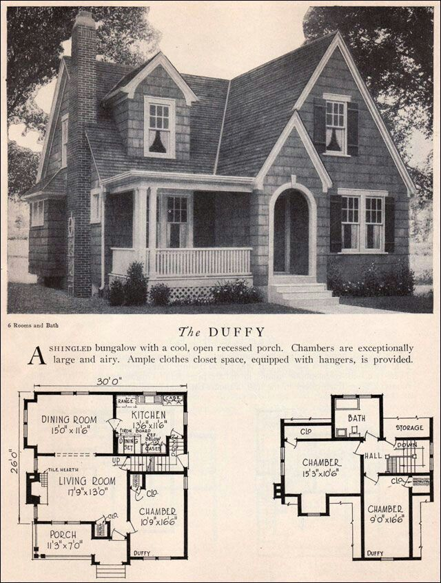 339 best vintage home plans images on pinterest vintage for English tudor cottage house plans