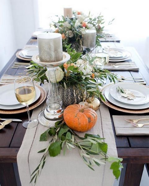 More dream autumn table inspiration? Yes please! We can't get enough of this absolutely gorgeous table from @SweetLittlePeanut. Shop this look in our bio) #tablescape #fallstyle #countdowntothanksgiving