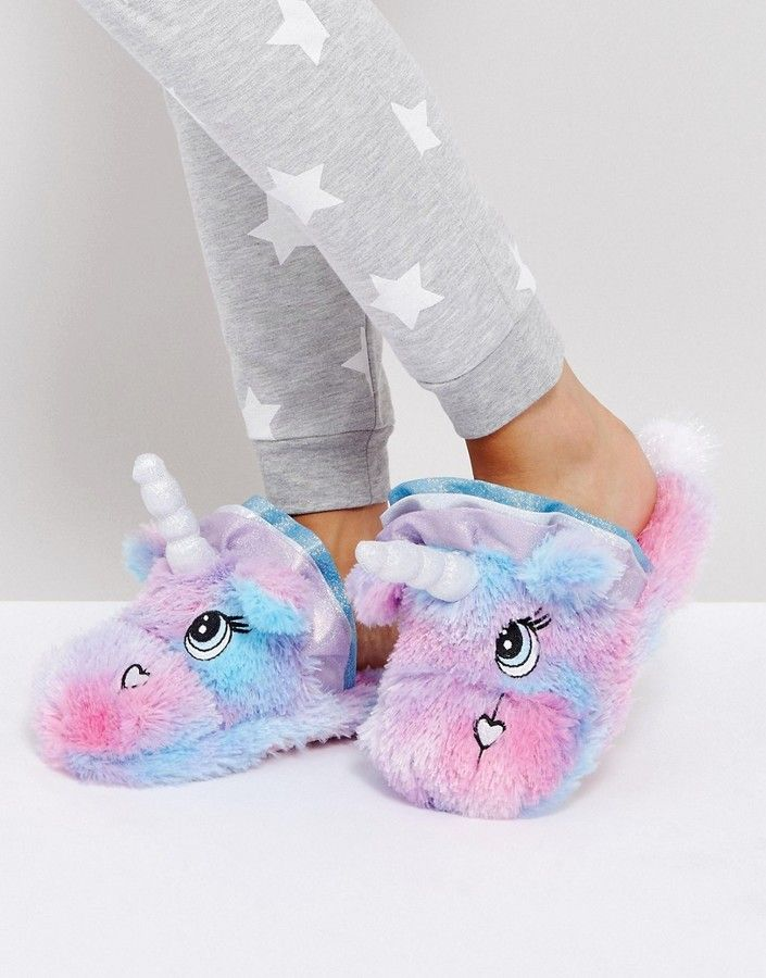 ASOS NEVADA MOON Unicorn Slippers