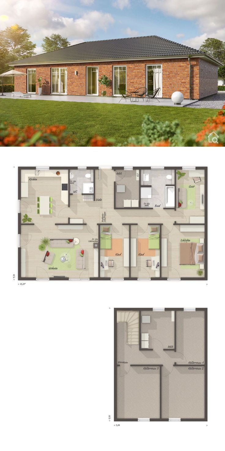 Bungalow House Plans with One Story & Basement Mod…