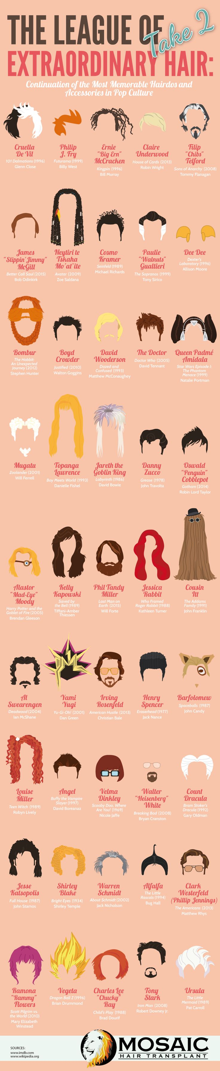 The League of Extraordinary Hair: Take 2 #infographic #Fashion #Lifestyle