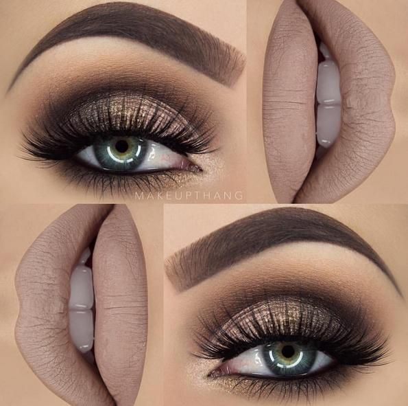 Smoky brown matte makeup look.                                                                                                                                                                                 More