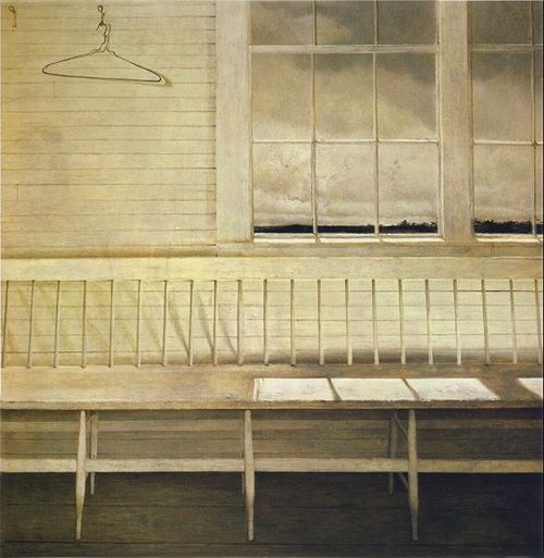 Off at Sea - 1972 Andrew Wyeth Tempera 37 x 37""