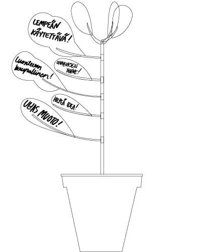 Hahmo   Graphic Design   Opastepuu   a plan of a sign tree   Helsinki Design Week 2008