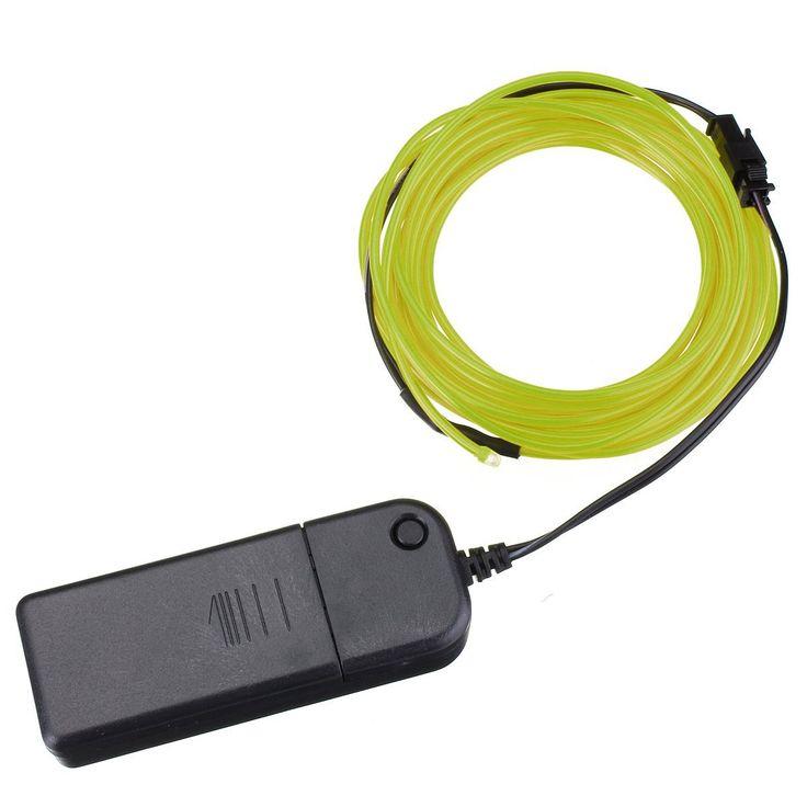 JFBL 4M EL cable de iluminacion de neon de alambre para las fiestas rave de Navidad y traje de Halloween (verde fluorescente) #Affiliate