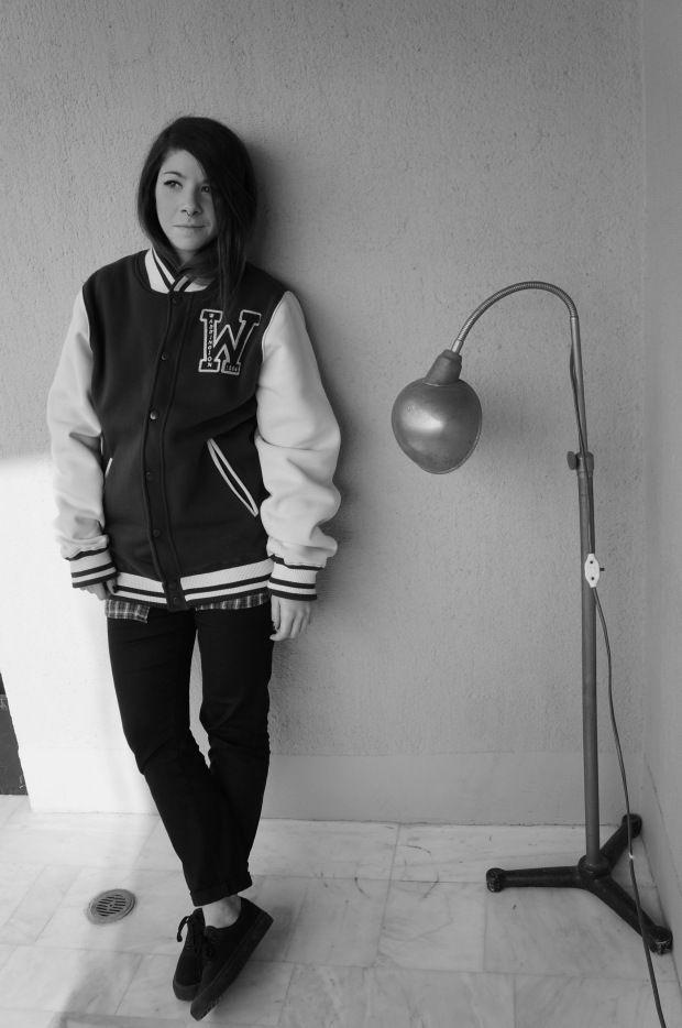 Personal outfit post:: The baseball jacket #baseball #bomber #vans