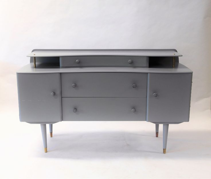 Upcycled Vintage Retro Grey Dressing Table 1950s by Over2hills on Etsy https://www.etsy.com/uk/listing/479809725/upcycled-vintage-retro-grey-dressing