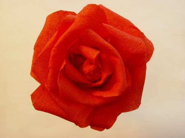 PAPÍRVIRÁGOK KÉSZÍTÉSE:Rózsa